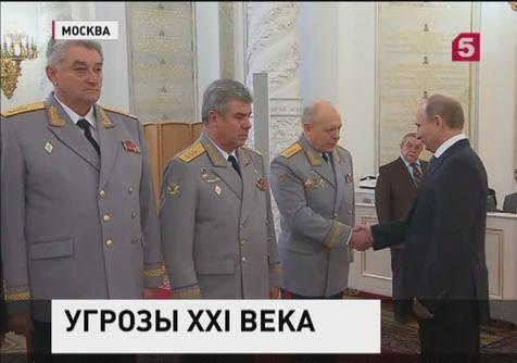 Владимир Путин встретлся с высшими офицерами в Кремле