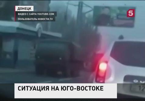 В сторону Донецка движется большая колонна военной техники нацгвардии
