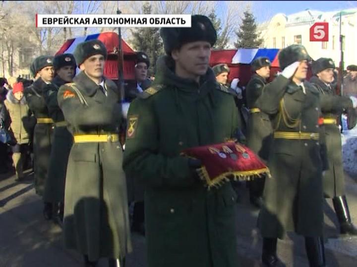 В Биробиджане с воинскими почестями похоронили погибших в Сирии Надежду Дураченко и Галину Михайлову