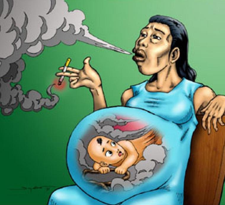Курение во время беременности с