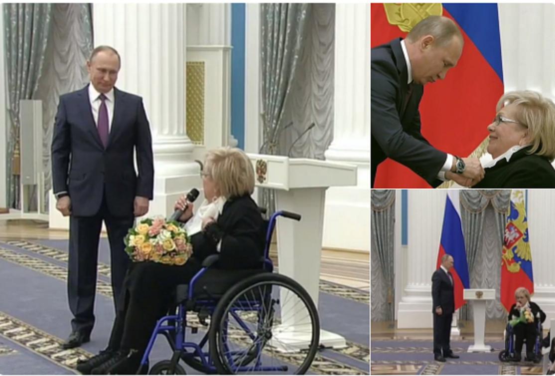 Владимир Путин вручил государственные наградыМинтимеру Шаймиеву иГалине Волчек