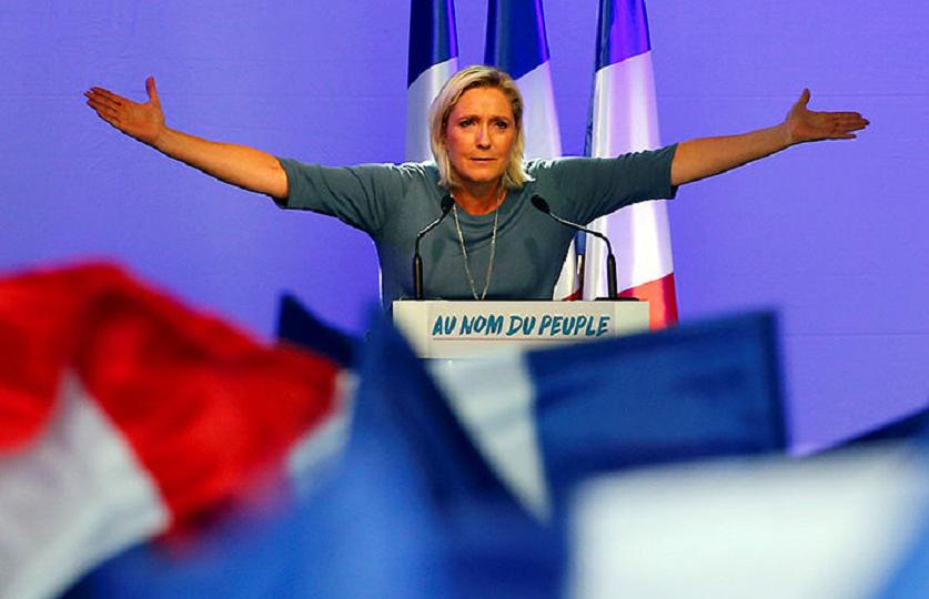 Марин ЛеПен создала предвыборную коалицию спартией «Вставай, Франция»