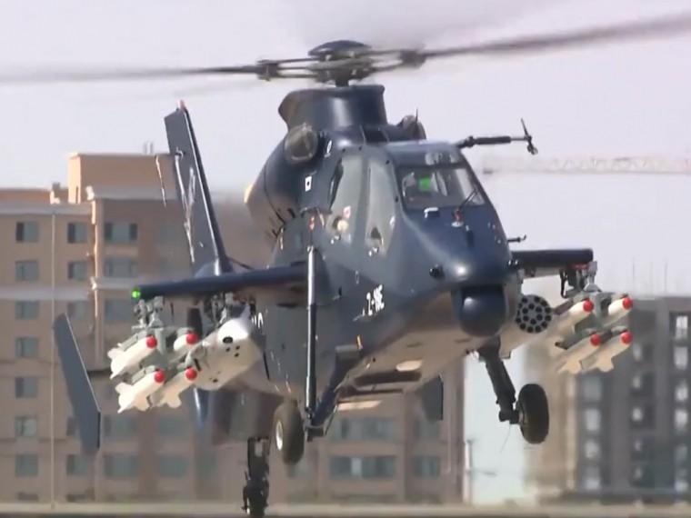 Кадры первого полета нового китайского боевого вертолета Z-19Е