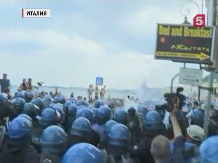 НаСицилии противники G7 вышли наакции протеста