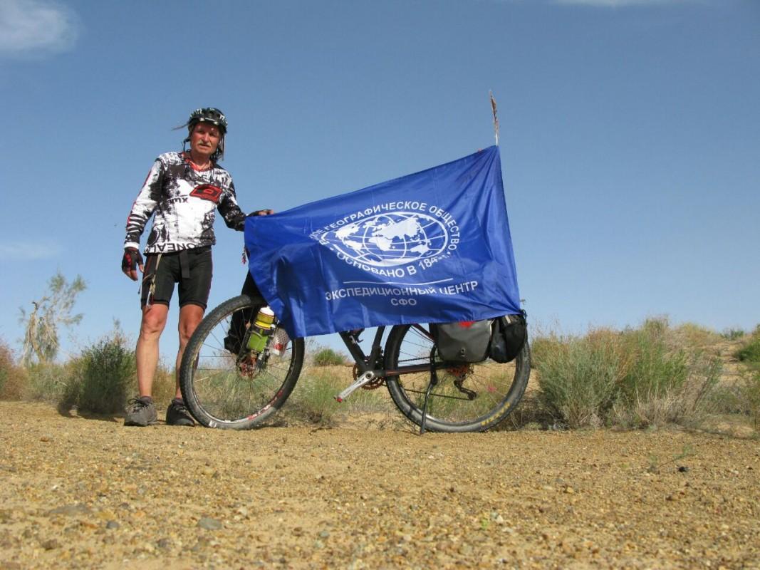 66-летний велосипедист проехал 100 километров ипокорил полюс недоступности