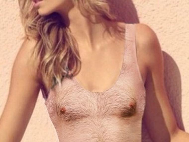 Секс с худой брюнеткой с маленькой грудью и длинными сосками и волосатой киско