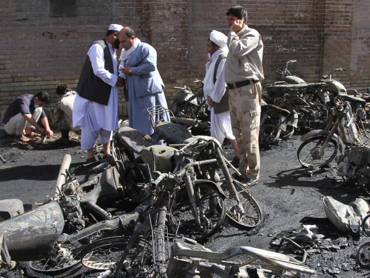 Неменее10 полицейских погибли при атаке боевиков «Талибан»* наКПП вАфганистане
