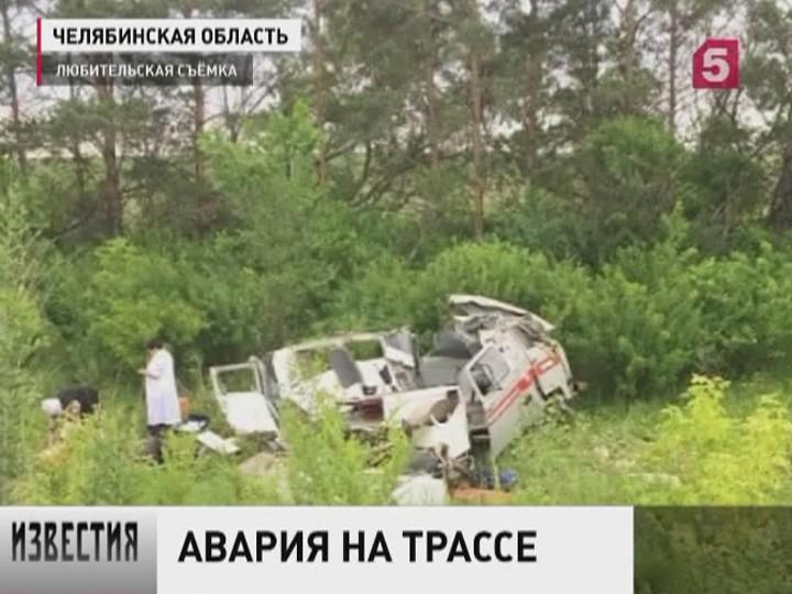 ВЧелябинске Mercedes наогромной скорости разорвалкарету скорой