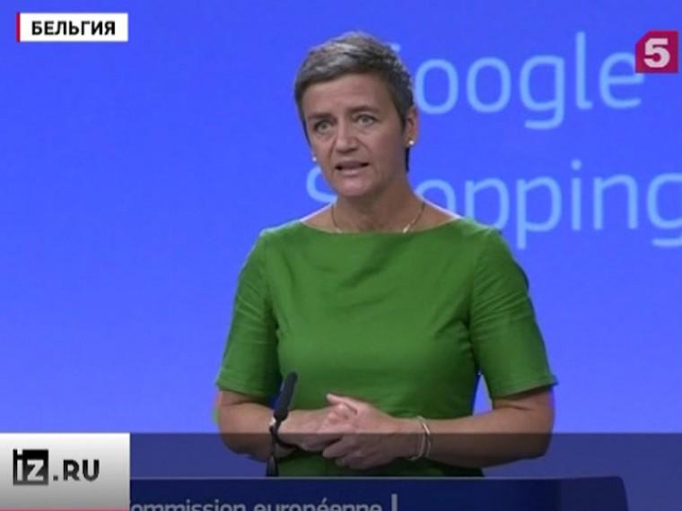 Еврокомиссия оштрафовала Googleнадва споловиной миллиарда евро