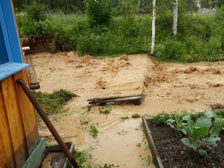 амурской области затопило поселок экимчан