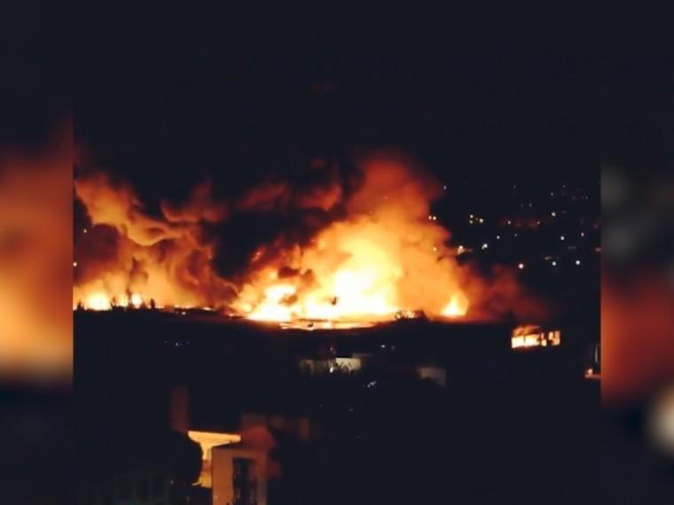 Пожар наскладе вМоскве ликвидирован