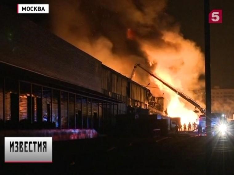 Стали известны подробности тушения пожара наскладе вМоскве