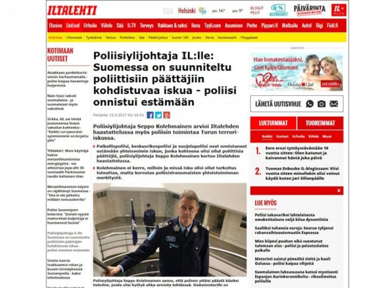 сми сообщили предотвращении атаки политиков финляндии