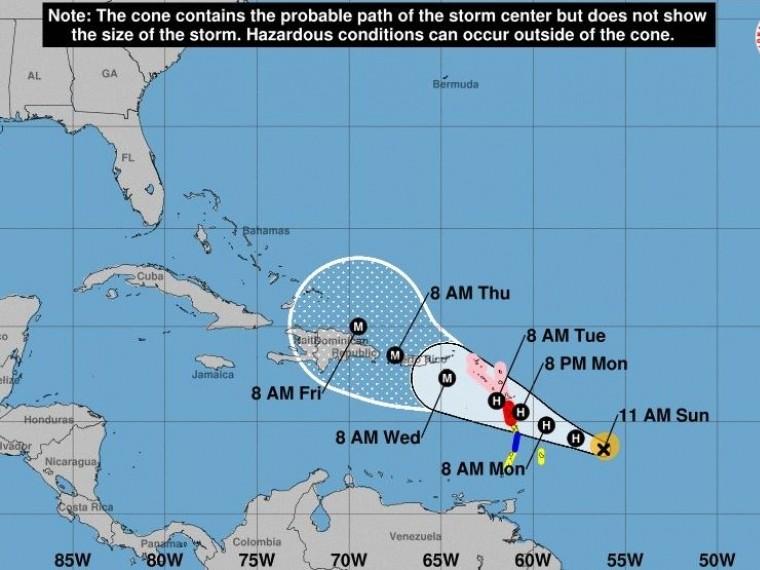 Карибским островам угрожает новый ураган