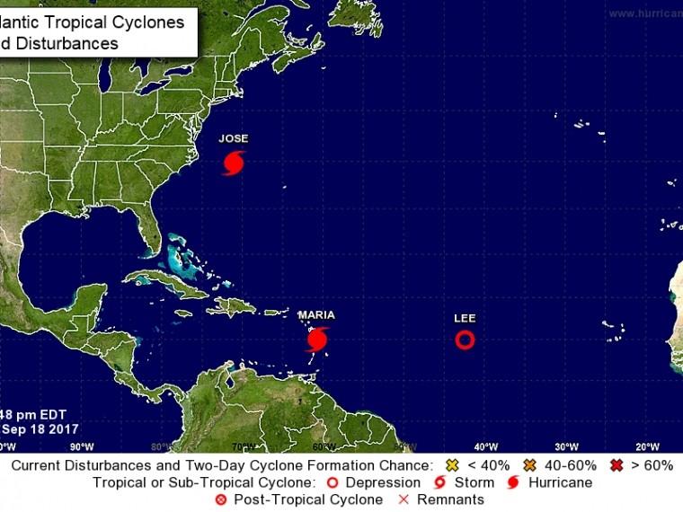 Ураган «Мария» усилился до четвертой категории