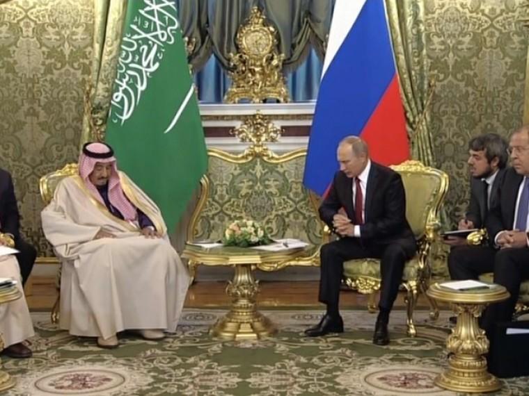 Началась встреча Владимира Путина иСалмана Аль Сауда— короля Саудовской Аравии