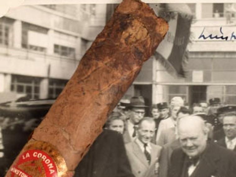 Недокуренная Черчиллем сигара ушла смолотка за12000 долларов