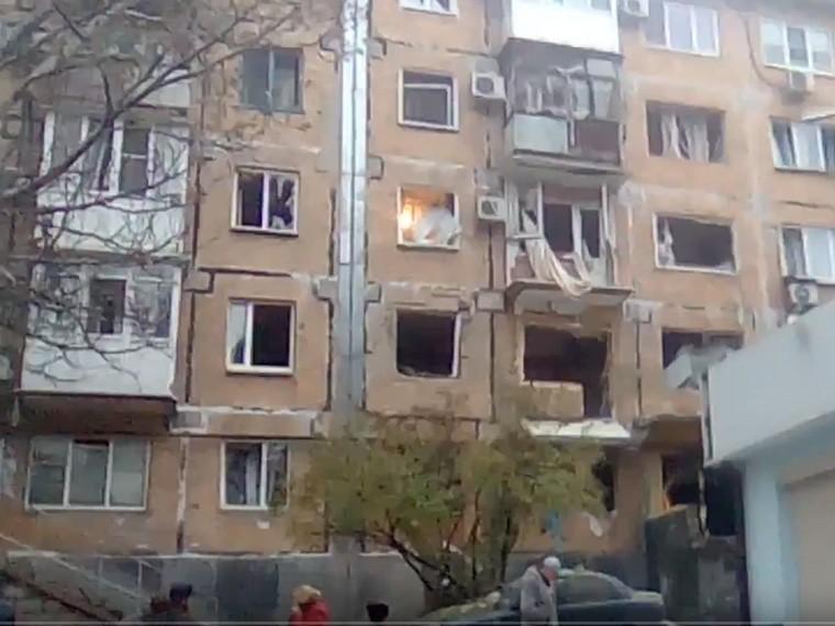 названа предварительная версия взрыва жилом доме донецке