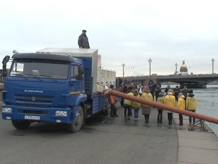 центре петербурга мальков балтийских сигов выпустили неву
