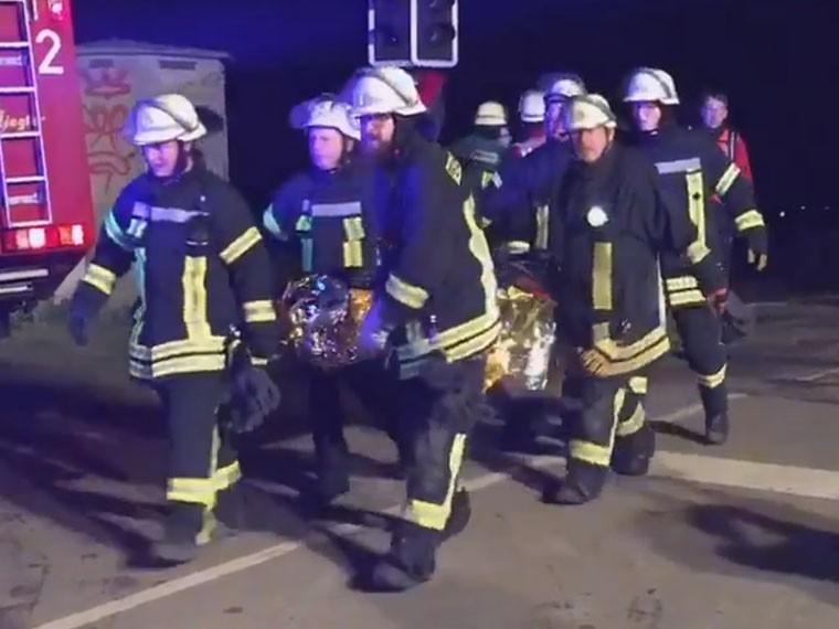 Опубликовано видео сместа катастрофы нажелезной дороге вГермании