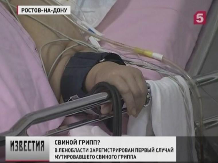 Первый случай свиногогриппа зарегистрирован вЛенинградской области