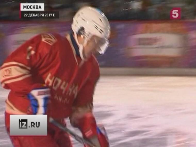 Путин, Шойгу,Фетисов иБурэ сыграли вматче Ночной хоккейной лиги