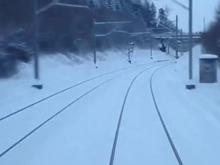ВНорвегии запустили круглосуточную онлайн-трансляцию издвижущегося поезда