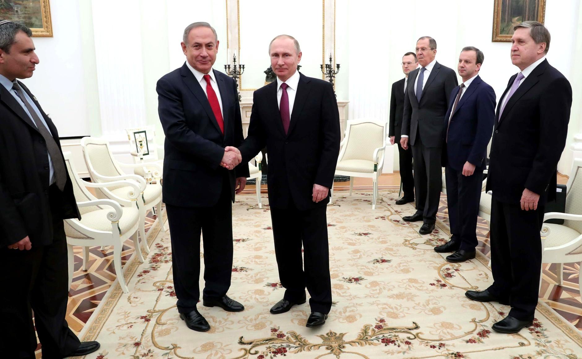 Впосольстве Израиля поведали  оподготовке встречи Нетаньяху и В.Путина