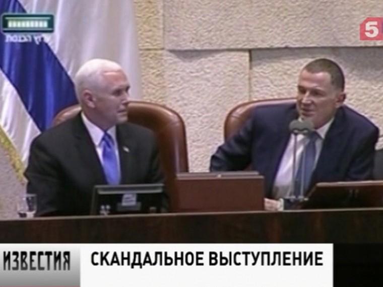 Встреча вице-президента США вИзраиле торжественной неполучилась