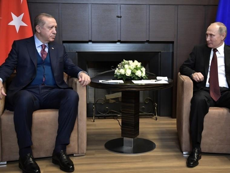 Путин иЭрдоган обсудили потелефону ситуацию всирийском Африне