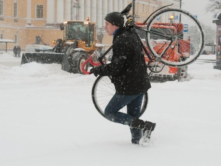 центре петербурга пересчитают зимних велосипедистов