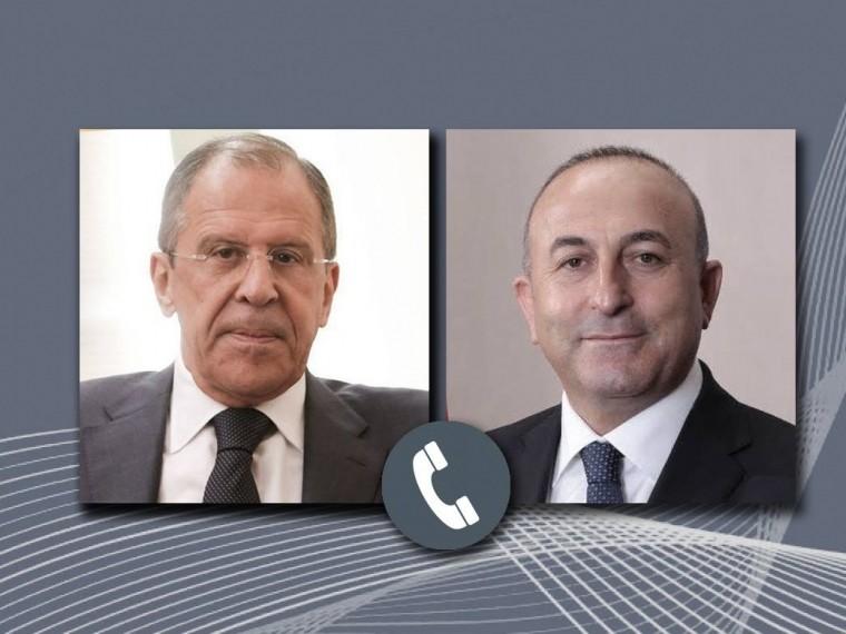 Глава МИД РФСергей Лавров провёл переговоры стурецким коллегой Мевлютом Чавушоглу