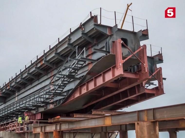 Пятый канал публикует впечатляющие кадры строительства Крымского моста