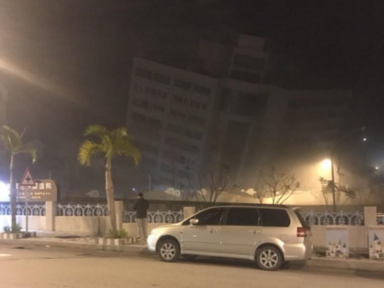 Врухнувшей наострове Тайвань гостинице могут находиться туристы изРоссии