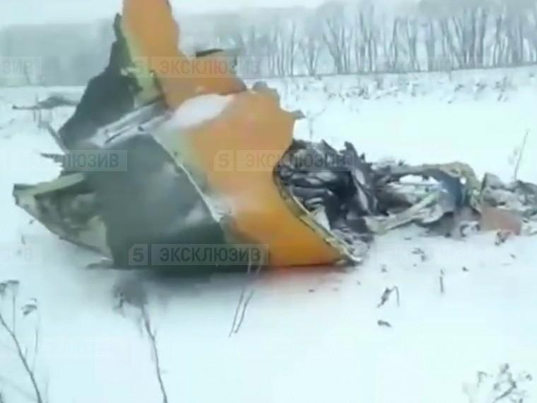 Пятый канал публикует первое видео сместа крушения АН-148