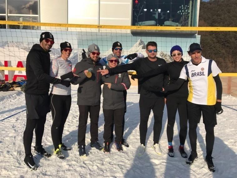 НаОлимпиаде вПхенчхане представили снежный волейбол