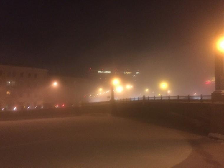 Санкт-Петербург накрыл густой туман