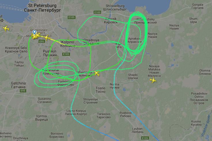 Из-за плохой погоды саратовский рейс вПетербург посадили вДомодедове