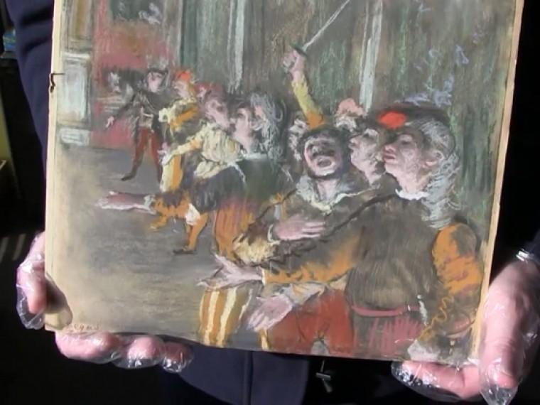 Похищенная восемь лет назад картина Дега обнаружена вавтобусе