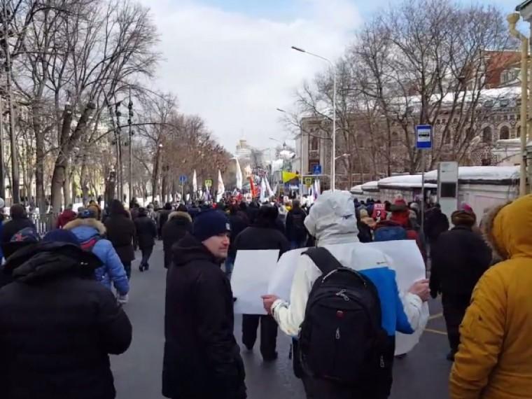 ВМоскве завершился Марш памяти Немцова