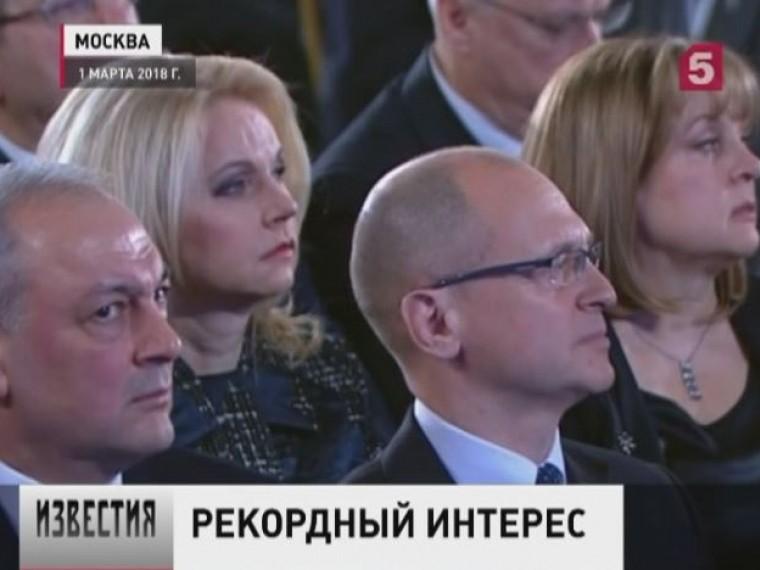 Послание президента Федеральному Собранию вызвало уроссиян большой интерес