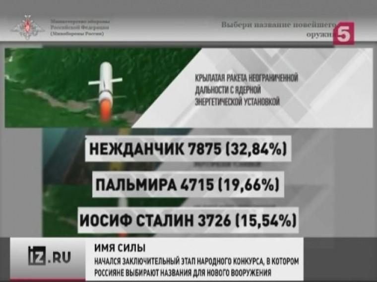 Страна выбирает название для нового российского оружия