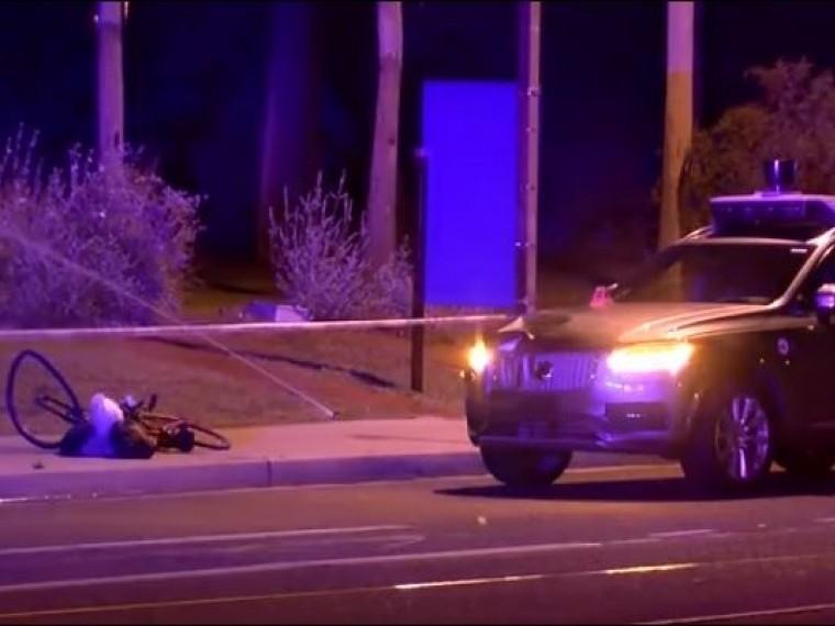 беспилотный автомобиль насмерть сбил велосипедистку аризоне опубликовано видео
