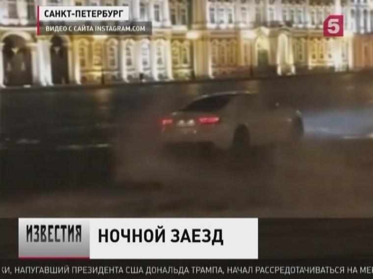 центре петербурга лихач-неудачник устроил некрасивый дрифт