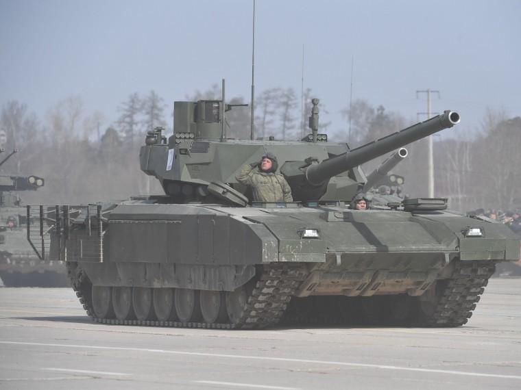 ВСША смоделировали танковый бой «Арматы» иAbrams под Калининградом