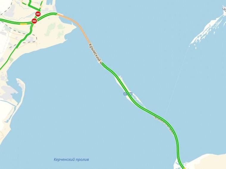 «Яндекс.Карты» покажут загруженность Крымского моста повсей его протяженности