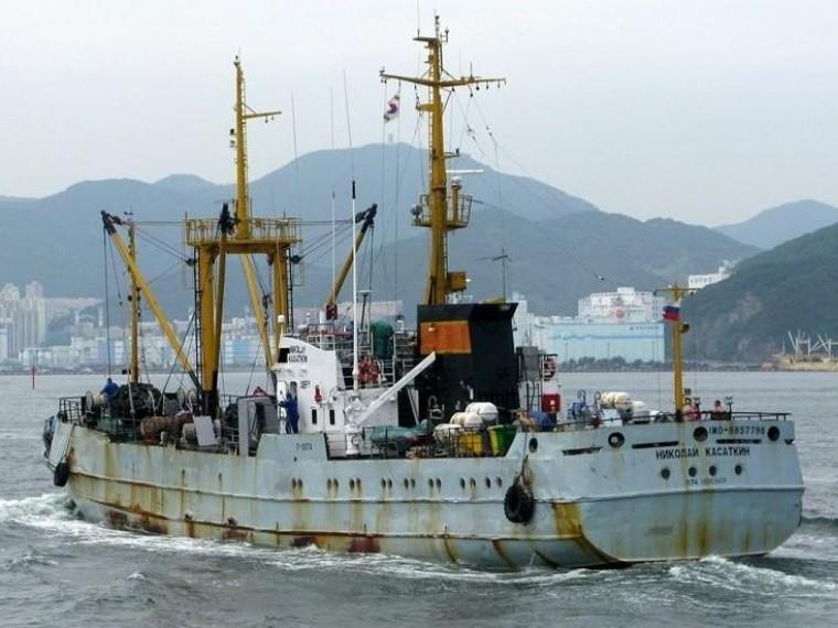 ВЮжной Корее арестовано российское судно «Николай Касаткин»