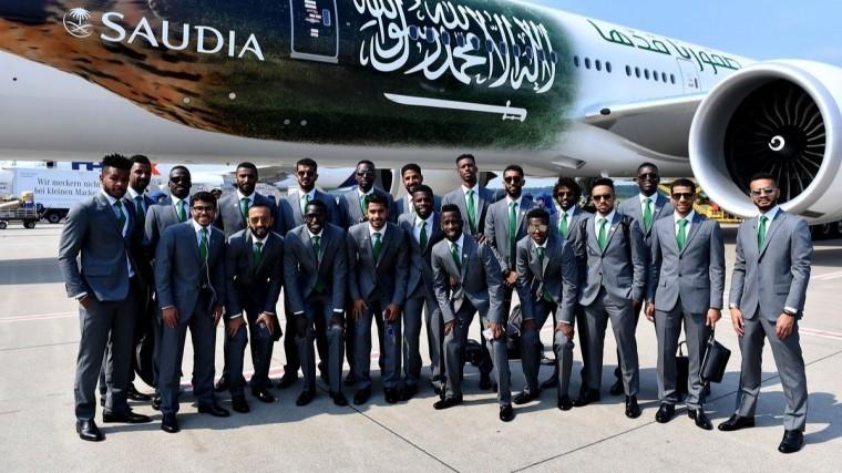 видео футбольная сборная саудовской аравии прилетела россию