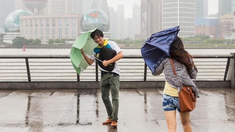 Мощный ураган обрушилсянаКитай