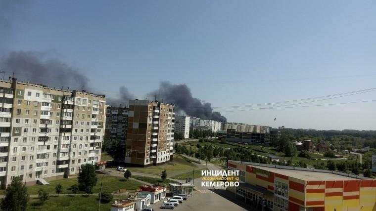 сильнейший пожар производстве кемерово черный дым накрыл город